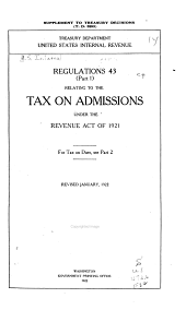 Regulations No. 43 (Part 1) Relating to the Tax on Admissions Under the Revenue Act of 1921