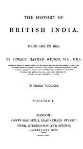 The History of British India: Volumes 7-8