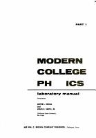 Modern Physics Laboratory Manual PDF
