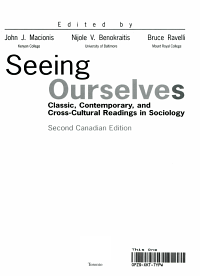 Seeing Ourselves   Classic  Contemporary  and Cross cultural Readings in Sociology