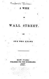 A Week in Wall Street