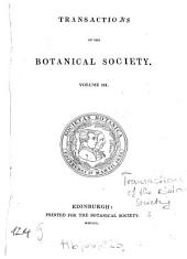 Transactions and Proceedings of the Botanical Society of Edinburgh: Volume 3