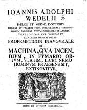 Prop. inaug. de machina, qua incendium, in fumario ortum, statim, licet nemo hominum praesens sit, extinguitur