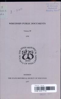 WISCONSIN PUBLIC DOCUMENTS Volume 60 976