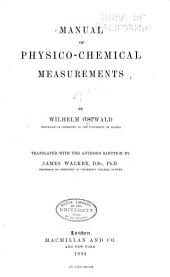 Manual of Physico-chemical Measurements