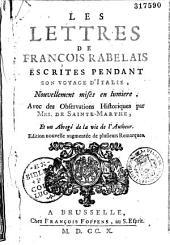 Lettres: escrites pendant son voyage d'Italie