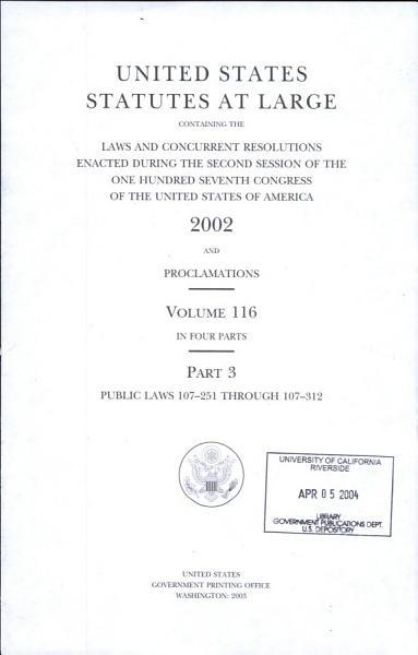 Download United States Statutes at Large Book