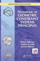 Handbook of Geometric Constraint Systems Principles PDF