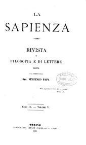La Sapienza. Rivista di filosofia e di lettere diretta da V. Papa: Volumes 5-6