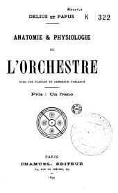Anatomie & physiologie de l'orchestre