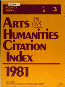 Arts   Humanities Citation Index PDF