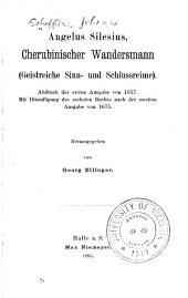Angelus Silesius, Cherubinischer wandersmann (Geistreiche sinn-und schlussreime)