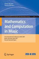 Mathematics and Computation in Music PDF