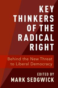 Key Thinkers of the Radical Right Book