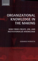 Organizational Knowledge in the Making PDF