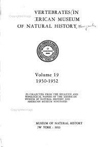 Fossil Vertebrates in the American Museum of Natural History PDF