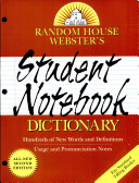 Random House Webster s Student Notebook Dictionary