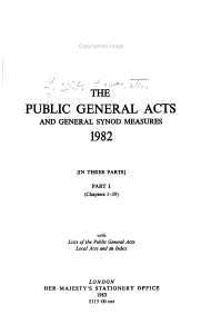 The Public General Acts and General Synod Measures PDF