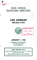 Official Telephone Directory  State Offices  Los Angeles PDF