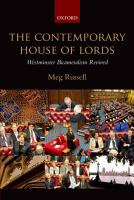 The Contemporary House of Lords PDF