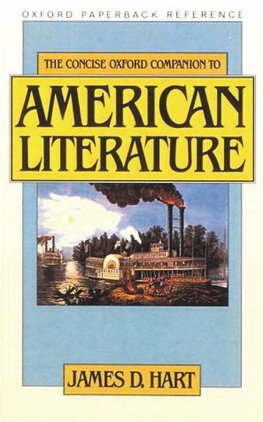 Download The Concise Oxford Companion to American Literature Book