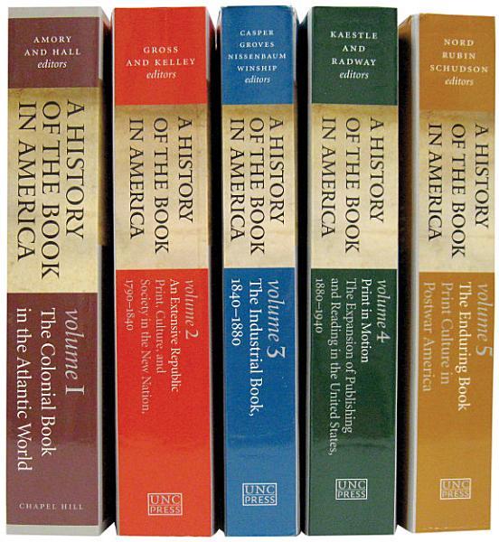 Download A History of the Book in America  5 volume Omnibus E book Book
