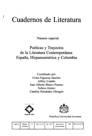 Cuadernos de literatura PDF