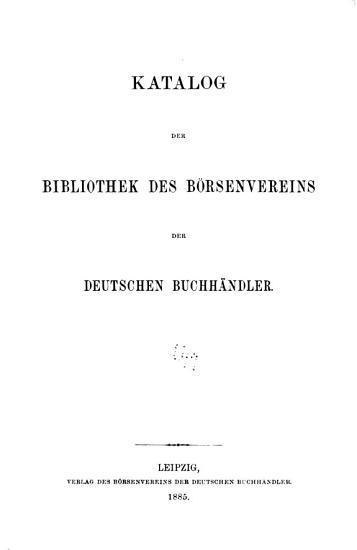 Verzeichniss der sammlungen des B  rsenvereins der deutschen buchh  ndler     PDF