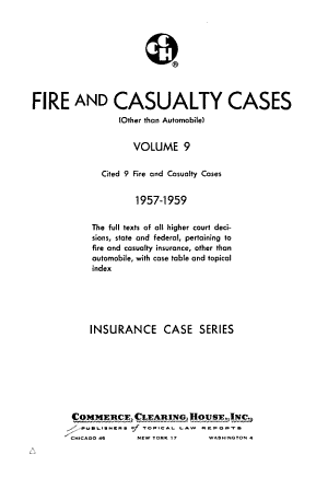 Fire and Casualty Cases  Other Than Automobile PDF
