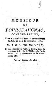 Monsieur de Pourceaugnac: comédie-ballet