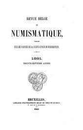 Revue belge de numismatique et de sigillographie: Volume37