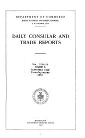 Daily Consular and Trade Reports: Issues 128-228