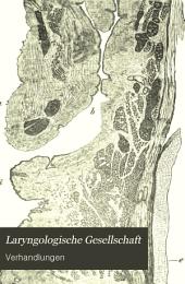 Laryngologische Gesellschaft: Volumes 1-6