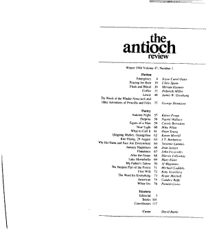 The Antioch Review PDF