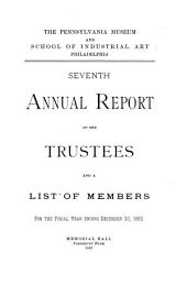 Annual Report of the Philadelphia Museum of Art: Issue 7