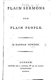 Plain Sermons for Plain People