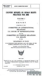 Country Reports on Human Rights Practices for 2005