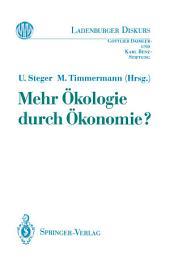 Mehr Ökologie durch Ökonomie?