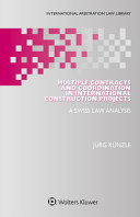 Multiple Contracts and Coordination in International Construction Projects PDF