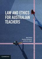 Law and Ethics for Australian Teachers PDF