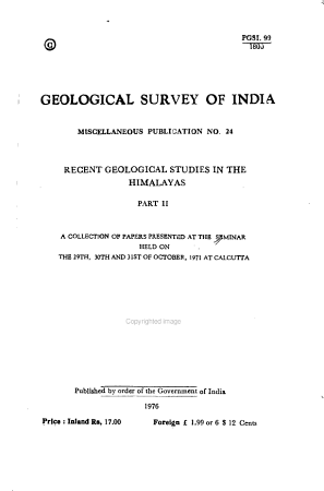 Recent Geological Studies in the Himalayas PDF
