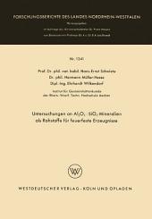Untersuchungen an Al2O3 · SiO2-Mineralien als Rohstoffe für feuerfeste Erzeugnisse