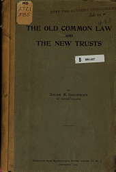 The Old Common Law and the New Trusts