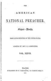 The National Preacher: Volumes 27-28
