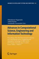 Advances in Computational Science  Engineering and Information Technology PDF