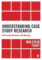 Understanding Case Study Research PDF