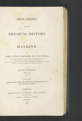 Researches Into the Physical History of Mankind: Ethnography of the African races. 3d ed. 1837