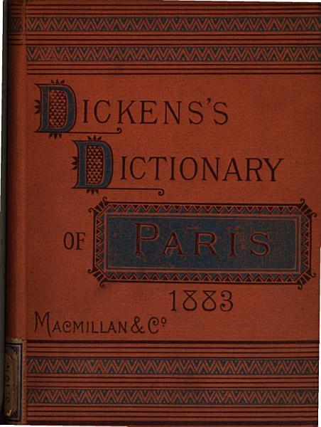 Download Dicken s Dictionary of Paris  1883 Book