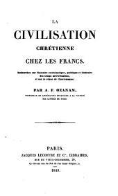 Etudes germaniques: La Civilization chrétienne chez les Francs