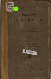 Platons Phaedon: für den Schulgebrauch